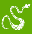 black spotted snake icon green vector image vector image