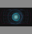 blue radar screen hud hi-tech futuristic vector image vector image