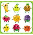 cartoon fruits vector image vector image