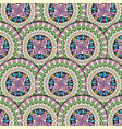 color mandala pattern background vector image