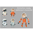cosmonaut astronaut spaceman space sci-fi icons vector image vector image