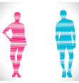 couple design with strip vector image