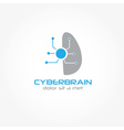 cyberbrain design template vector image