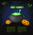 dark halloween party template vector image vector image