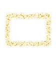 Decorative square frame with glitter tinsel of