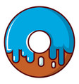 donut icon cartoon style vector image vector image