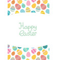 easter egg frame trmplate bright colored vector image vector image