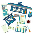 elements necessary for making up budget plan vector image