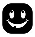 face is smiling icon black vector image