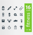 fitness icons set 16 quality icon vector image vector image