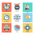 Flat Color Line Design Concepts Icons 27 vector image vector image