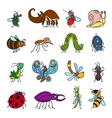 funny insects and bugs vector image