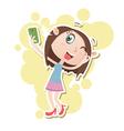 girl selfie vector image
