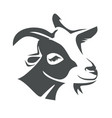 goat head portrait stylized logo template vector image vector image