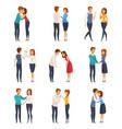 greeting handshake set vector image vector image