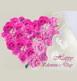 happy valentines day realistic card vector image vector image