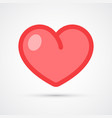 heart trendy social symbol trendy colored vector image