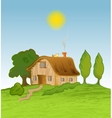 house background with trees vector image vector image