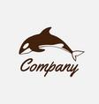 jumping orca wild killer whale logo design vector image vector image