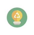 light bulb recycle green energy block icon vector image vector image