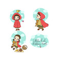 little red riding hood fairy tale little cute vector image vector image
