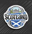 logo for scotland vector image vector image