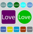 Love you sign icon Valentines day symbol 12 vector image vector image