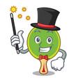 magician ping pong racket mascot cartoon vector image vector image