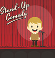 male stand up comedian cartoon character vector image vector image