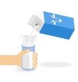 Milk creating splash vector image vector image