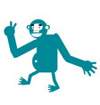 monkey simple art geometric vector image vector image