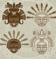 Native American mask stencil and stroke variant vector image vector image
