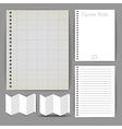 Paper document templates vector image vector image