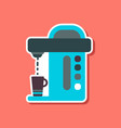 paper sticker on stylish background coffee vector image