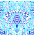 pattern with peacock vector image vector image