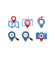 pin map logo design template vector image vector image