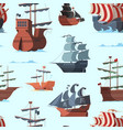 pirate ship pattern old shipping boat adventure vector image vector image