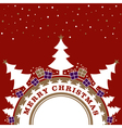 Red and gold Christmas design vector image vector image