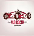 retro race car vintage symbol emblem label vector image vector image