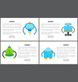 robot set of web pages text vector image vector image
