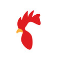 rooster head logo design template isolated vector image vector image