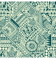 Seamless asian ethnic floral retro doodle pattern vector image vector image