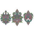 set henna floral elements vector image vector image