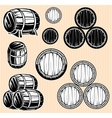set monochromatic patterns with barrels vector image vector image
