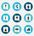 set of 9 editable farm icons includes symbols vector image vector image