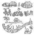 set of fairytale decorative elements isolated vector image vector image