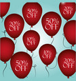 shopping discounts balloons vector image
