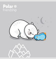 sleeping penguin and polar bear vector image vector image
