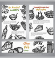 thanksgiving day brochure collection hand drawn vector image vector image