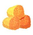 three round hay bales or rolls vector image vector image